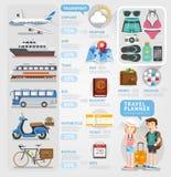 Elemento di infographics del pianificatore di viaggio Fotografia Stock