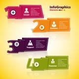 Elemento di infographics del taglio delle carte d'ufficio Fotografia Stock Libera da Diritti