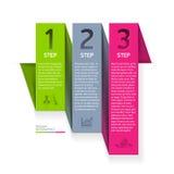Elemento di infographics di origami Immagini Stock