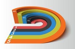 Elemento di Infographics, illustrazione di vettore Fotografia Stock