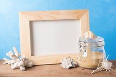 Elemento di legno del mare e della struttura Fotografia Stock