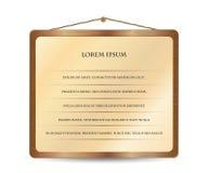 Elemento di legno di disegno per il formato di vettore di Web site Immagini Stock Libere da Diritti