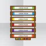 Elemento di legno di progettazione Immagine Stock