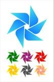 Elemento di logo del mulino a vento di disegno. Immagine Stock Libera da Diritti