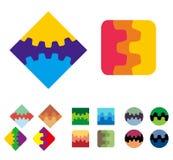 Elemento di logo del quadrato di vettore di progettazione Fotografie Stock Libere da Diritti