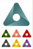 Elemento di logo del triangolo di disegno. Immagine Stock