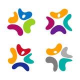 Elemento di logo dell'onda di progettazione Immagini Stock Libere da Diritti