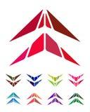 Elemento di logo della freccia di progettazione Immagine Stock