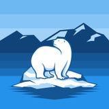 Elemento di Logo Illustration di vettore dell'icona dell'orso polare illustrazione di stock