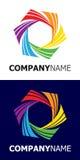 Elemento di marchio della stella del Rainbow Fotografia Stock