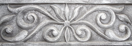 Elemento di modellatura decorativo della parete - stile antico Immagini Stock
