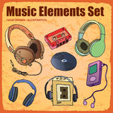 Elemento di musica Immagine Stock