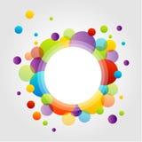 Elemento di progettazione con i cerchi variopinti Fotografia Stock