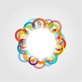 Elemento di progettazione con i cerchi variopinti Fotografie Stock