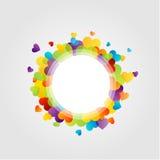Elemento di progettazione con i cuori variopinti Fotografia Stock