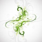Elemento di progettazione con i motivi floreali Immagini Stock