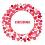 Elemento di progettazione del cerchio del punto di Valentine Abstract Halftone Immagine Stock