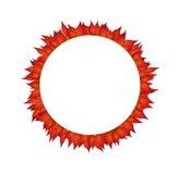 Elemento di progettazione del cerchio di autunno Fotografia Stock