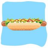 Elemento di progettazione del hot dog Royalty Illustrazione gratis