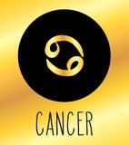 Elemento di progettazione del segno dello zodiaco del Cancro Fotografia Stock Libera da Diritti