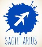 Elemento di progettazione del segno dello zodiaco di Sagittario Fotografie Stock Libere da Diritti