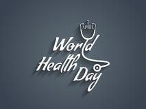 Elemento di progettazione del testo del giorno di salute di mondo. Immagine Stock Libera da Diritti