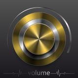 Elemento di progettazione del volume del bottone Illustrazione di Stock