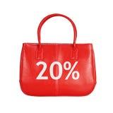 Elemento di progettazione della borsa di vendita isolato su bianco immagine stock libera da diritti