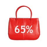 Elemento di progettazione della borsa di vendita isolato su bianco fotografia stock