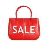 Elemento di progettazione della borsa di vendita isolato su bianco fotografia stock libera da diritti
