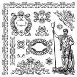 Elemento di progettazione della costruzione storica di Leopoli, Fotografia Stock Libera da Diritti