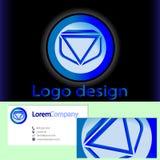 Elemento di progettazione di logo con il modello del biglietto da visita Immagine Stock