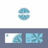 Elemento di progettazione di logo dell'icona con il modello del biglietto da visita Immagine Stock