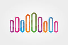 Elemento di progettazione di logo di vettore Musica, onda, astratta Fotografia Stock