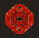 Elemento di progettazione geometrica nello stile di stile Liberty Fotografie Stock Libere da Diritti