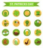 Elemento di progettazione stabilita dell 39 icona di giorno - St patricks giorno fogli di colore giorno ...