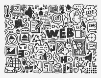 Elemento di rete di scarabocchio Immagine Stock
