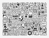 Elemento di rete di scarabocchio Immagine Stock Libera da Diritti
