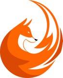 Elemento di riserva della circolare della volpe di logo Fotografie Stock