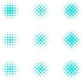 Elemento di semitono delle cellule del cerchio di progettazione. Fotografia Stock
