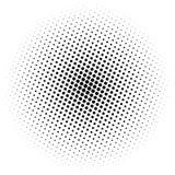 Elemento di semitono Grafico geometrico astratto con il patt del semitono illustrazione vettoriale