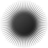 Elemento di semitono radiale Immagine Stock