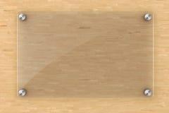 elemento di vetro dello spazio in bianco 3d Immagine Stock