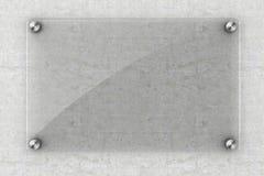 elemento di vetro dello spazio in bianco 3d Immagini Stock