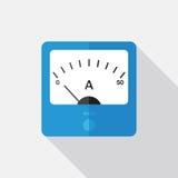 Elemento di vettore dell'amperometro immagine stock