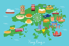 Elemento di viaggio di Hong Kong Immagine Stock Libera da Diritti