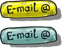 Elemento di web di vettore di stile di schizzo del bottone del email Fotografia Stock Libera da Diritti