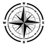 Elemento disegnato a mano di progettazione di vettore della rosa dei venti di bussola Fotografie Stock