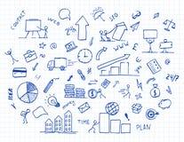 Elemento disegnato a mano di scarabocchio di affari Fotografie Stock