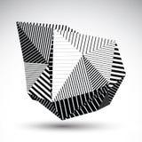 Elemento distorto decorativo eps8 con le linee nere parallele Mul Immagini Stock Libere da Diritti